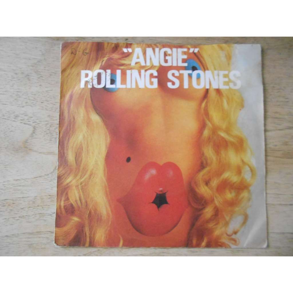 the rolling stones angie - silver train (2nd PS - printed by CIDIS)