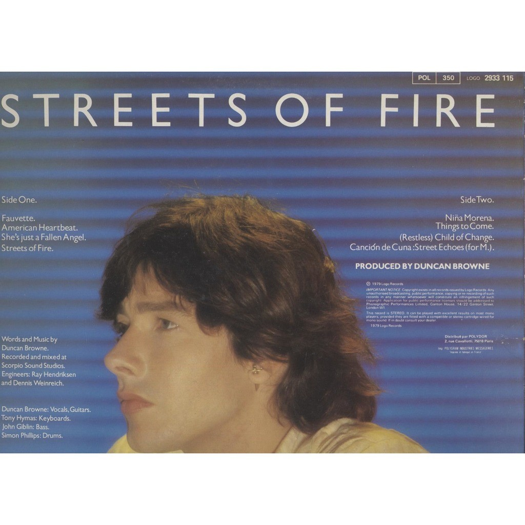 Duncan Browne Streets of Fire