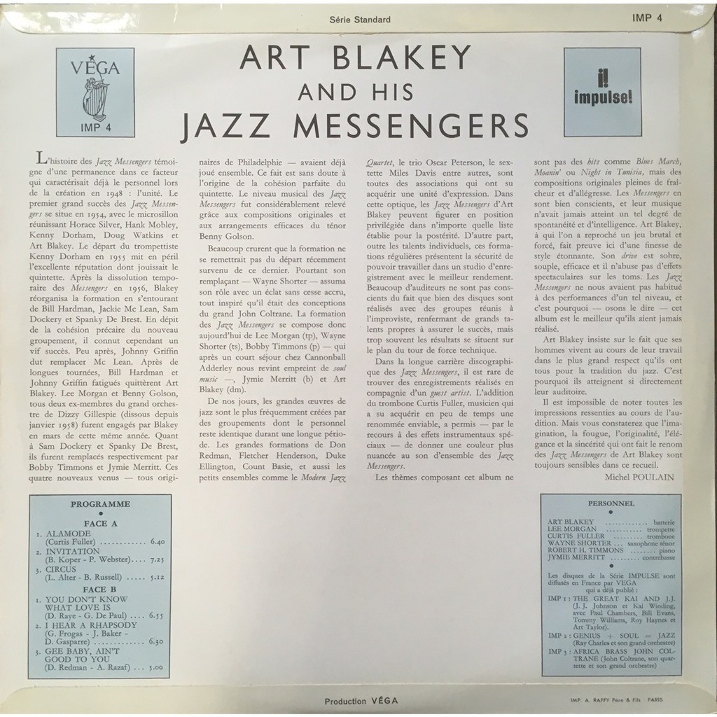 Art Blakey & The Jazz Messengers Art Blakey & The Jazz Messengers (French Mono Original)
