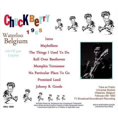 chuck berry LIVE WATERLOO BELGIUM 1965 CD