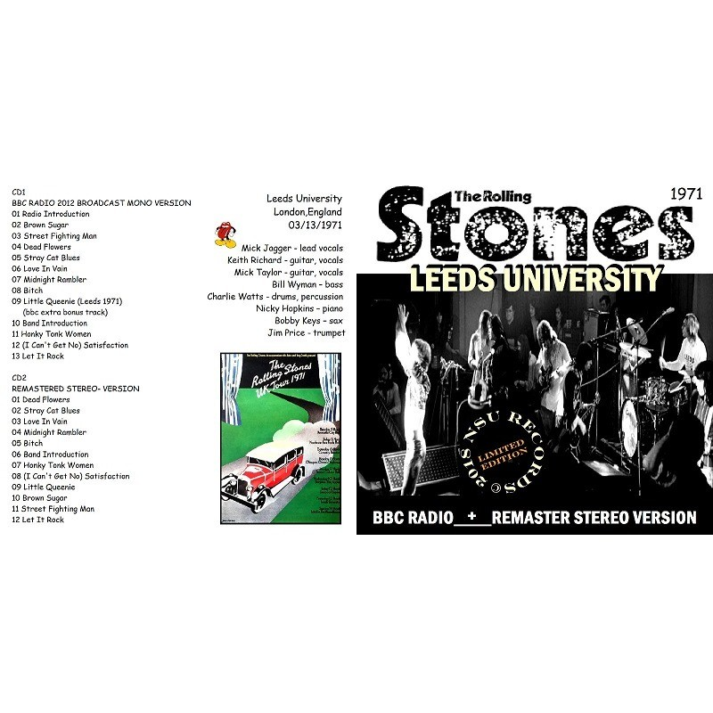 Live at leeds university 1971 march 13th 2 cd by The Rolling Stones, CD x 2  with zorro800