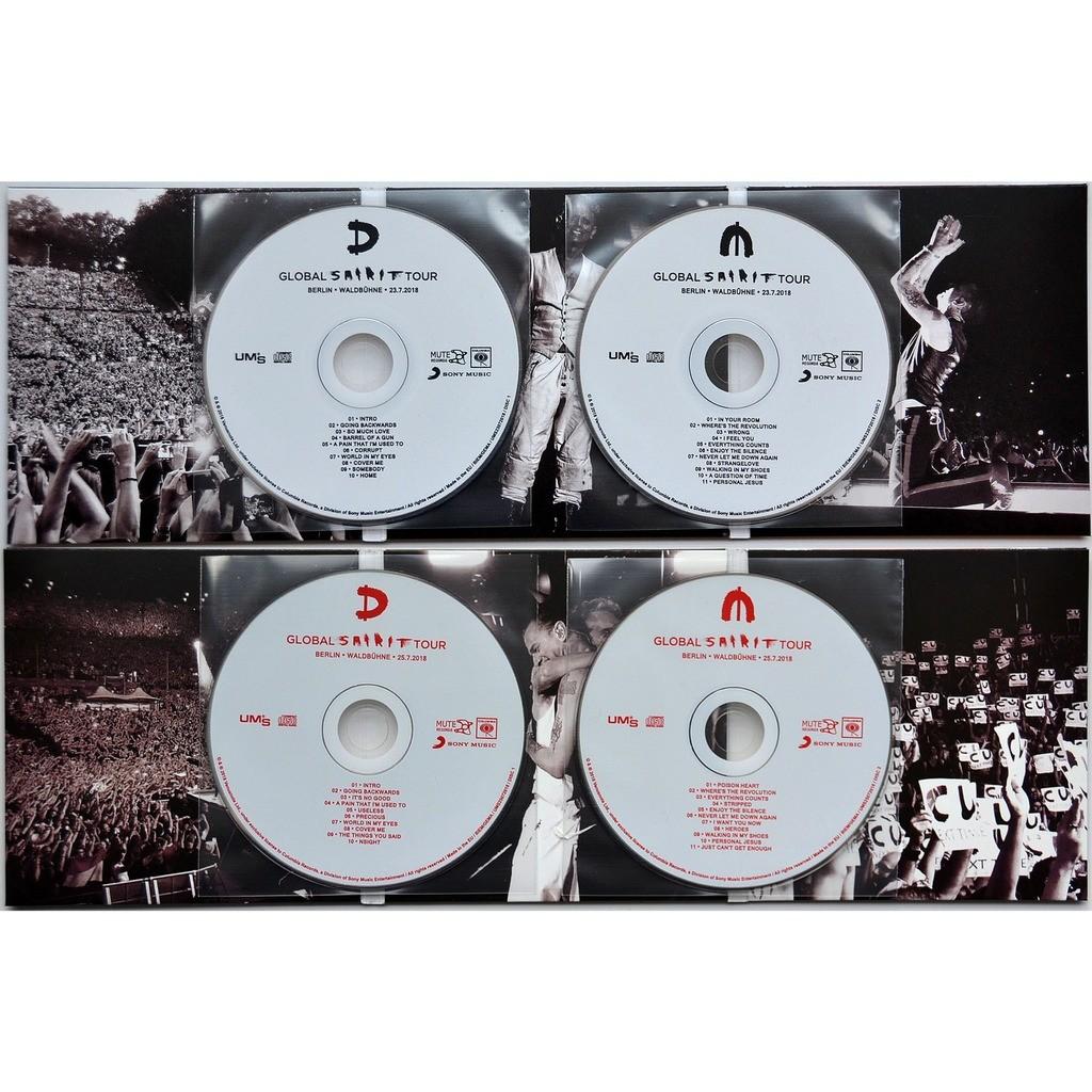 DEPECHE MODE Live at Waldbuhne Berlin Germany 23/25 July 2018 Final Show Global Spirit Tour 4CD set
