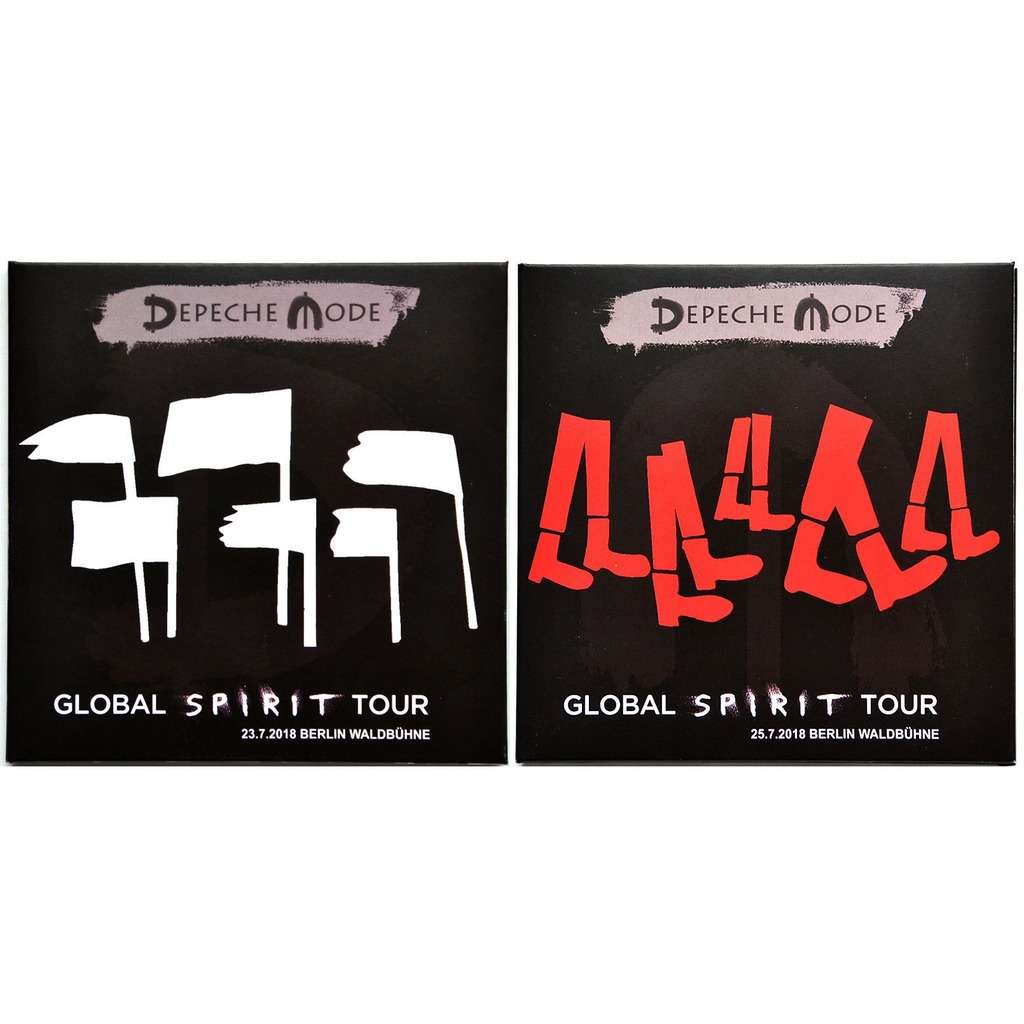 DEPECHE MODE Live at Waldbuhne Berlin Germany 23/25 July 2018 Final Show Global Spirit Tour 4CD set
