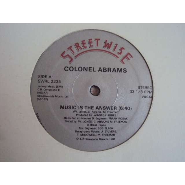 Colonel Abrams Music Is The Answer (Vocal 6'40) 1984 USA (MAXIBOXLP)