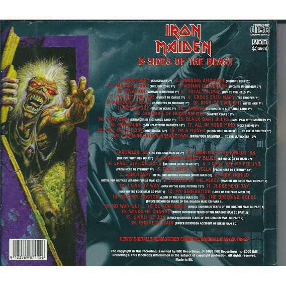 IRON MAIDEN B-SIDES OF THE BEAST 2CD