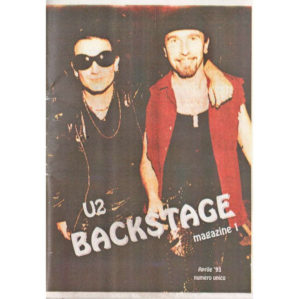 U2 Backstage Magazine (N 1 April 1993) (Italian 1993 official full U2 72  pag  Fan-club Magazine!)