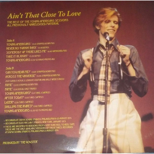 DAVID BOWIE Ain't That Close To Love (The Best Of The Young Americans Sessions) LP