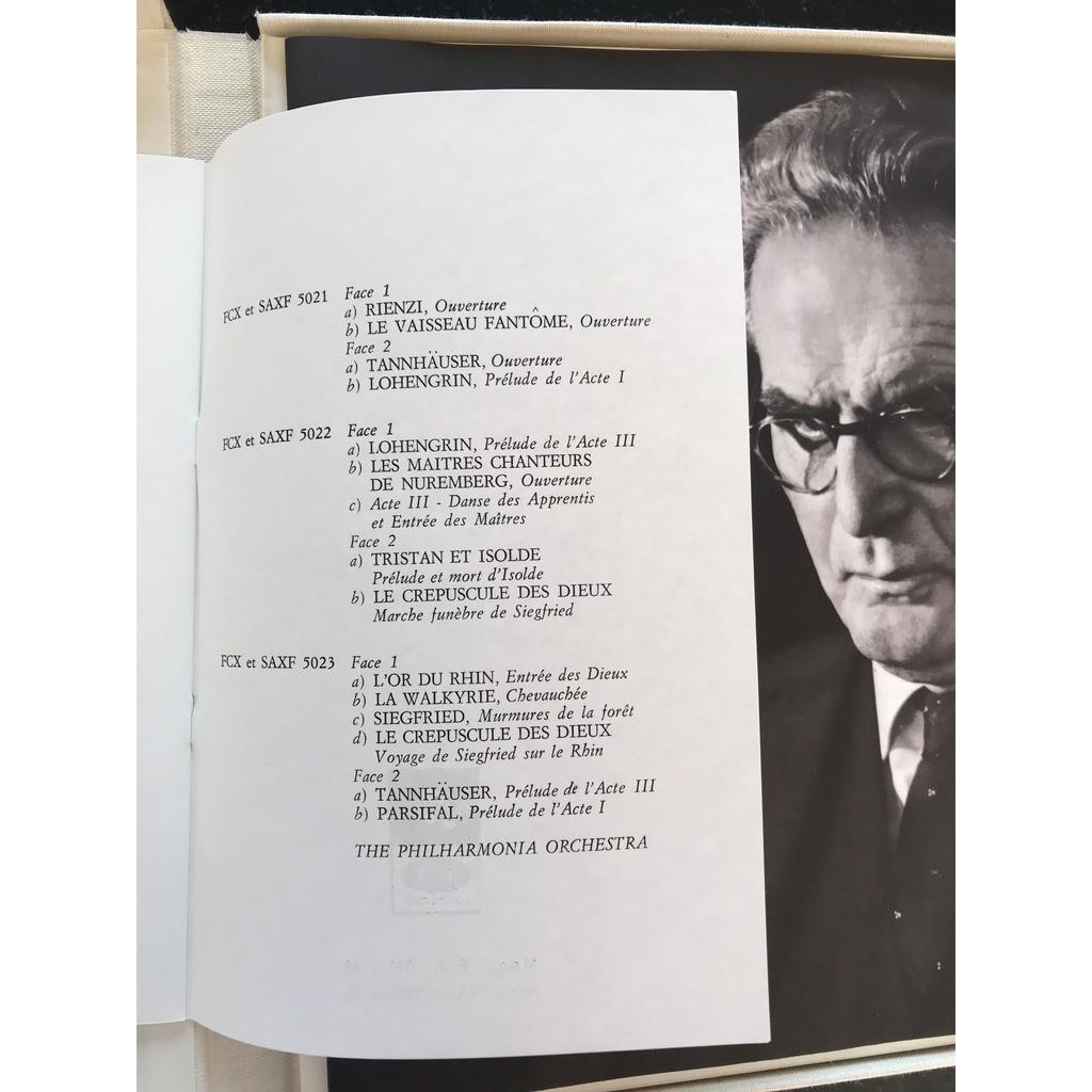 otto klemperer La Musique Orchestrale de Wagner - album III
