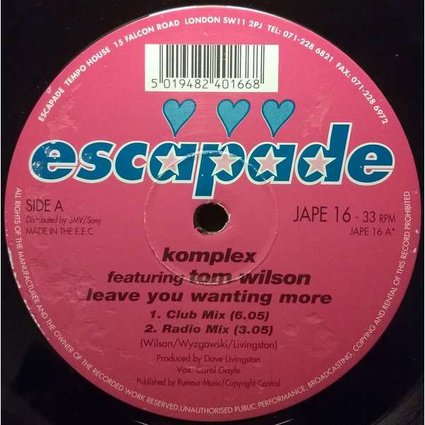 Komplex Featuring Tom Wilson Leave You Wanting More
