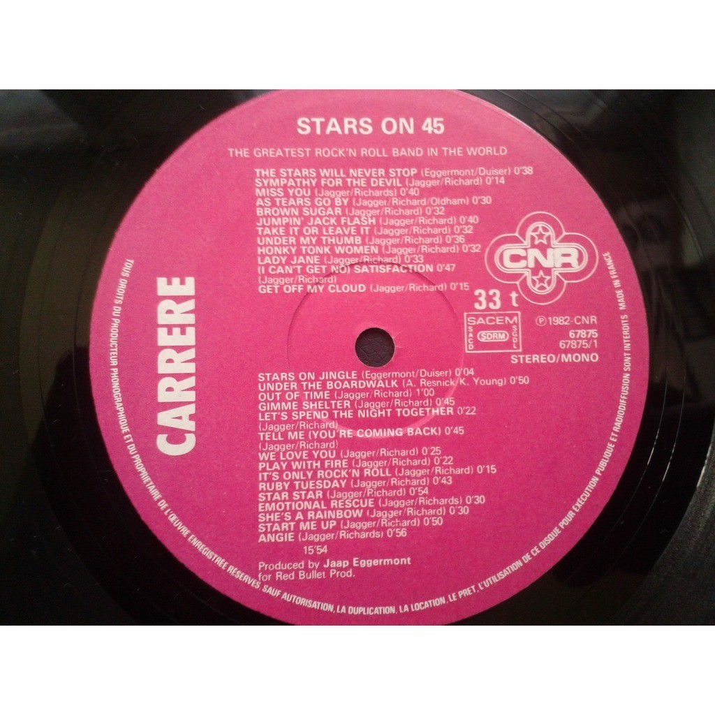 Stars On 45 - The Superstars (LP) Stars On 45 - The Superstars (LP)