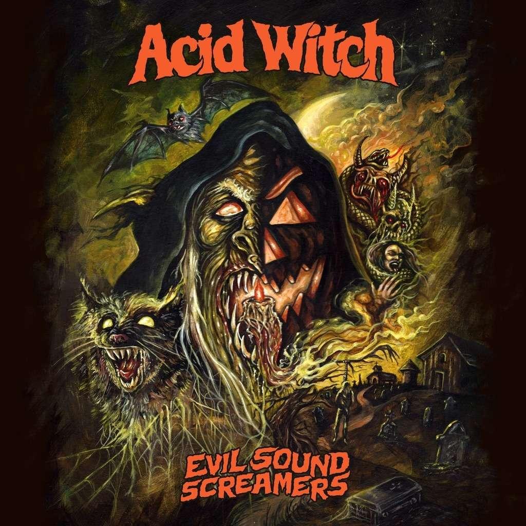 ACID WITCH Evil Sound Screamers. Splatter Vinyl