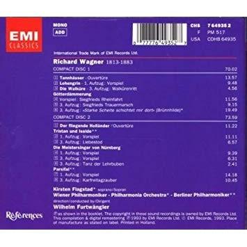 Richard Wagner / Wilhelm Furtwängler Operatic Extracts: Tannhäuser - Lohengrin - Die Walküre - Götterdämmerung - Der Fliegende Holländer