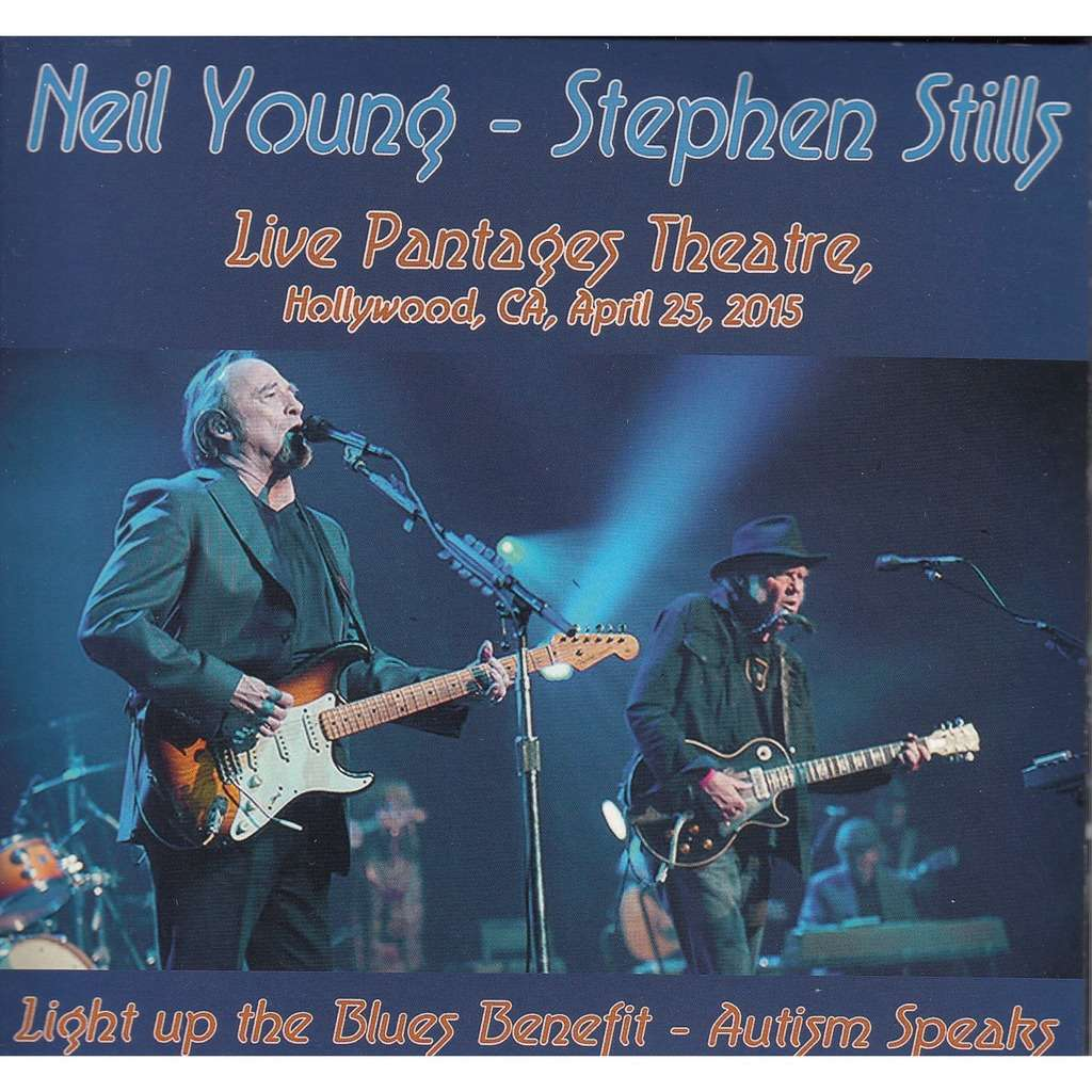 Neil Young & Stephen Stills Light Up The Blues Benefit