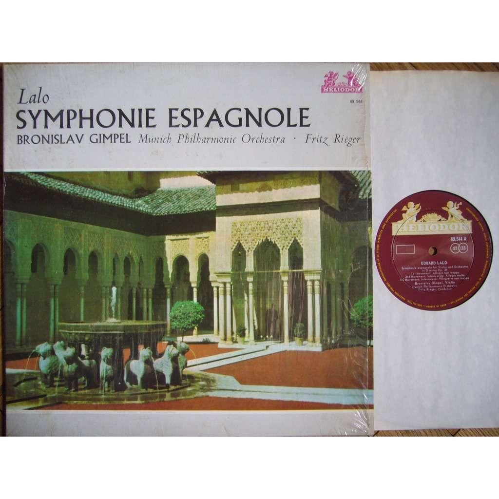 BRONISLAV GIMPEL Lalo Symphonie Espagnole RIEGER HELIODOR 89 544 NM