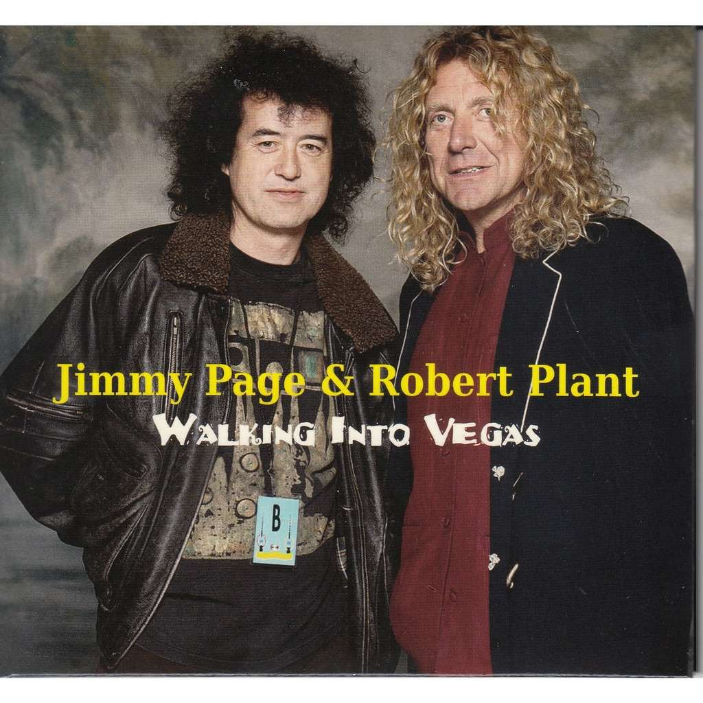 JIMMY PAGE & ROBERT PLANT walking into vegas