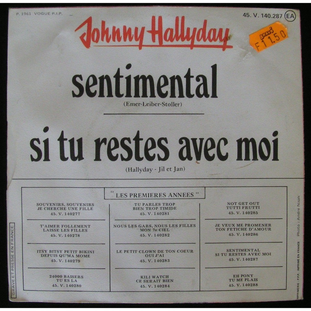 johnny hallyday sentimental