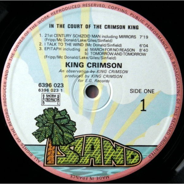 KING CRIMSON In the court of The Crimson King (Second FRench press - 1972 - Gatefold sleeve - Great conditions)