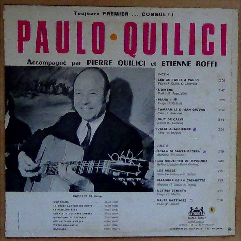 paulo quilici les guitares à paulo (lp + copie cd)