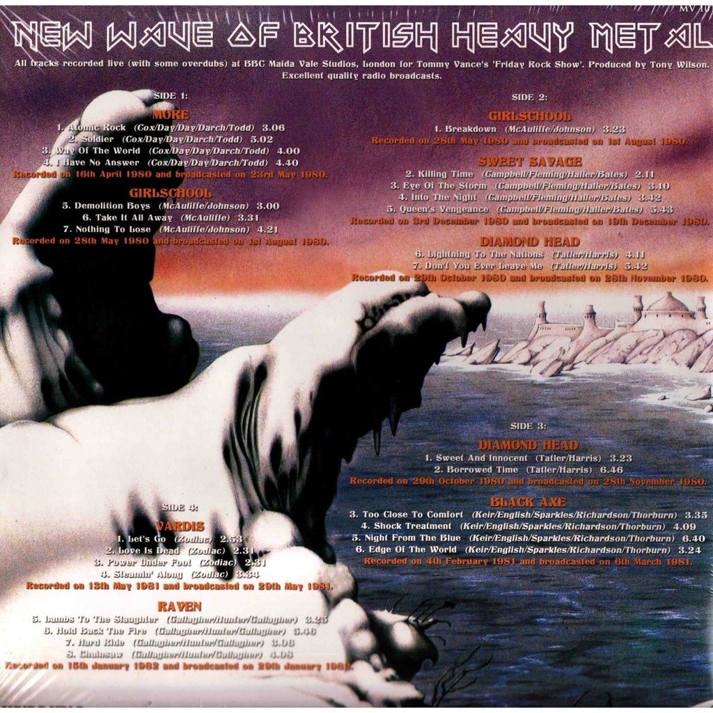 NWOBHM (New Wave Of British Heavy Metal) AT THE BBC - 'FRIDAY ROCK SHOW' VOL 2 1980-1982 (2xlp) Ltd Edit Gatefold Sleeve -E.U
