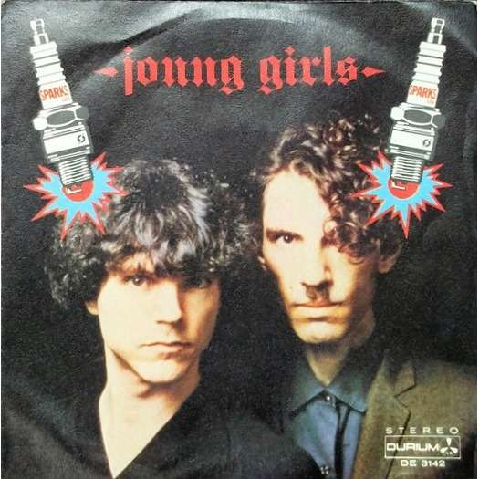 sparks Young Girls (Italian 1980 original 2-trk w/label 7single promo on Durium lbl unique ps)