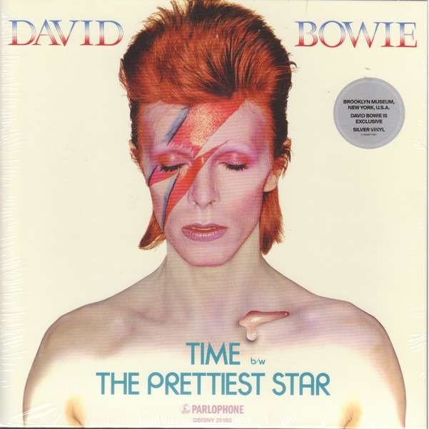 David Bowie Time (USA 2018 Ltd 'Brooklyn Museum David Bowie Is' exclusive 2-trk 7single SILVER wax ps-SEALED!)