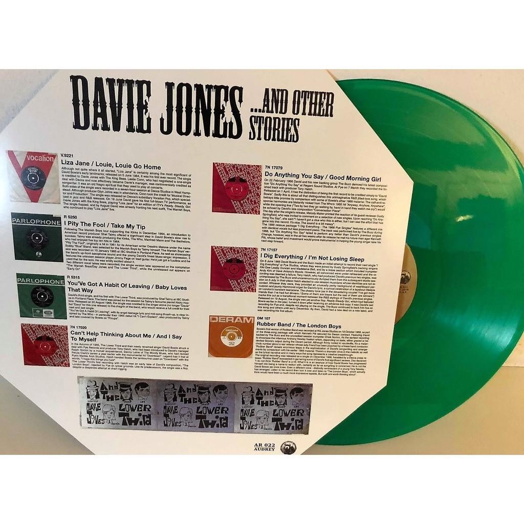 DAVID BOWIE Davie Jones …and other stories Vol.1 (Euro 2018 Ltd 200 copies 14-trk LP GREEN wax unique ps)