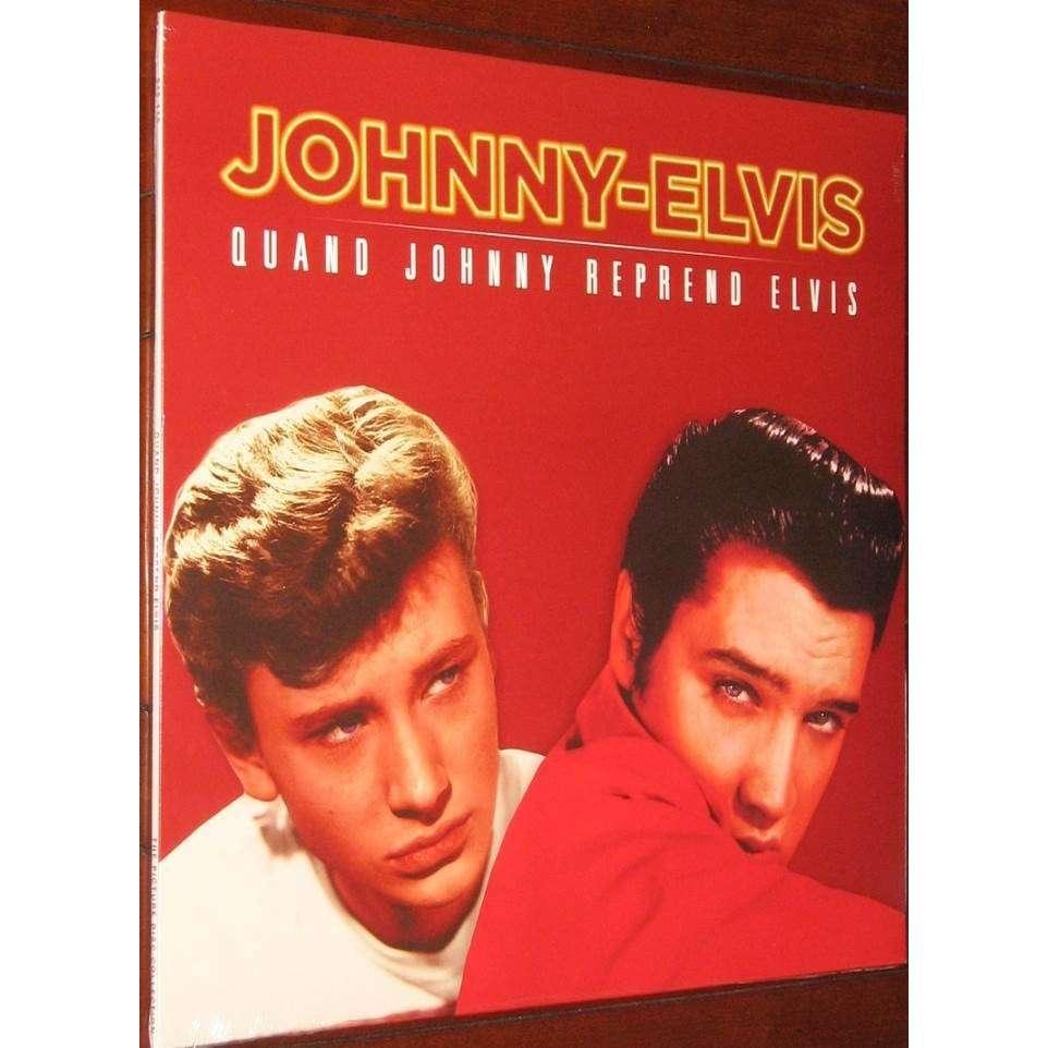 elvis presley / johnny hallyday 2 LP picture discs france 2015 red edition
