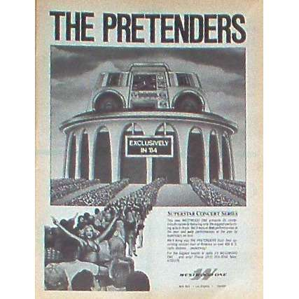 The Pretenders Superstar Concert Series (USA 1984 'wwo' promo type advert 'Radio Concert' poster !!)