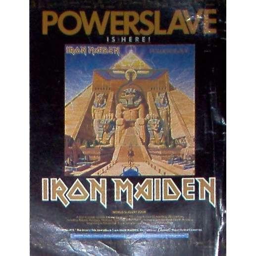 iron maiden Powerslave (USA 1984 Capitol promo type advert 'album release' poster!!)