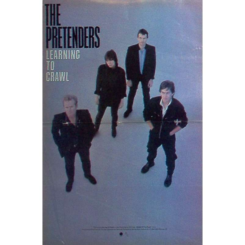 Pretenders Learning To Crawl (USA 1984 Sire promo type advert 'album release' poster!!)