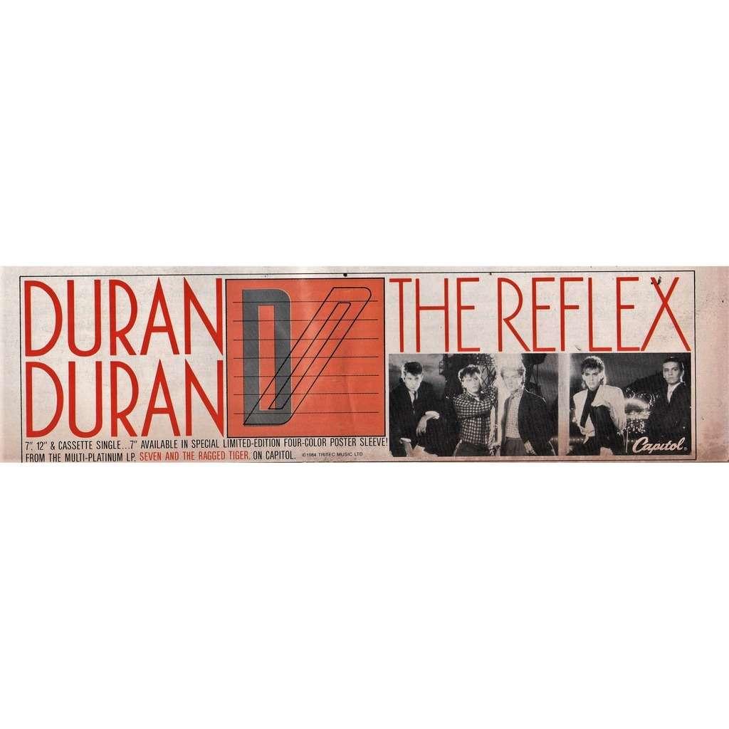 Duran Duran The Reflex (USA 1984 Capitol promo type advert 'single release' poster flyer!!)