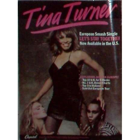 Tina Turner Let's Stay Together (USA 1984 Capitol promo type advert 'single release' poster!!)