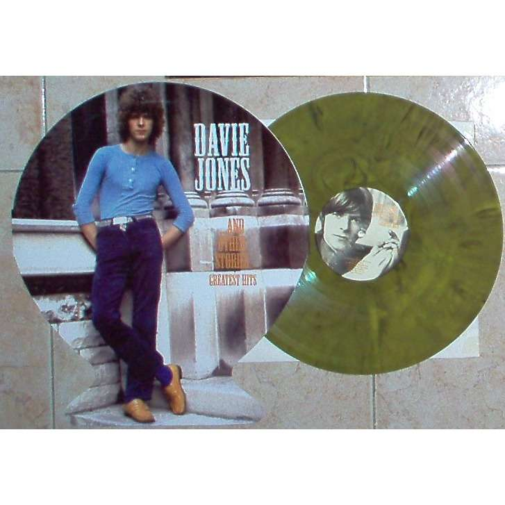 DAVID BOWIE Davie Jones and other stories-GreateST HITS (Euro 2018 Ltd 200 copies 14-trk LP GREEN wax unique ps)