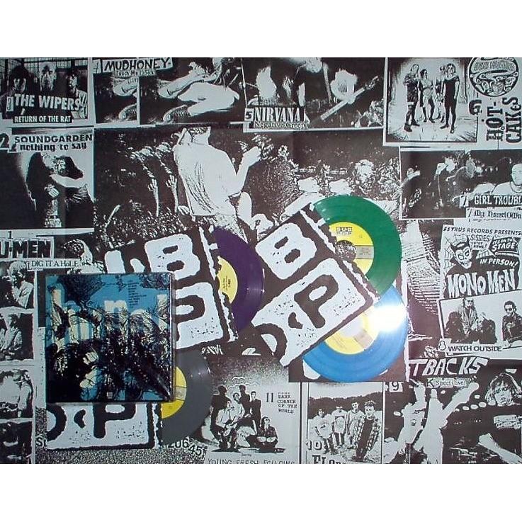 Soundgarden Hype! 'Box Set' (USA 1993 Ltd 2000 copies V/A 4x 7Singles Coloured vinyls box set & poster)