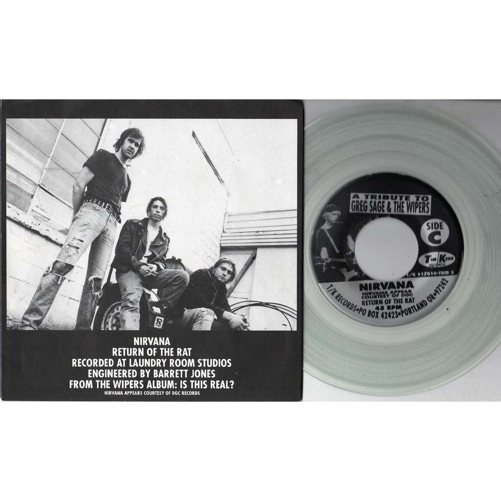 nirvana Eight Songs for Greg Sage & the Wipers (Canada 1992 Ltd 8-trk V/A 4 x 7single CLEAR Wax Box set)