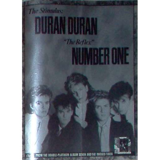 Duran Duran The Reflex (USA 1984 Capitol promo type advert 'single release' poster!!)