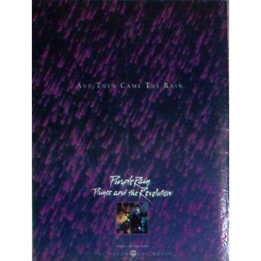 Prince Purple rain (USA 1984 Warner Bros promo type advert 'album release' poster!!)