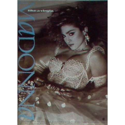 Madonna Like A Virgin (USA 1984 Warner Bros promo type advert 'album release' poster!!)