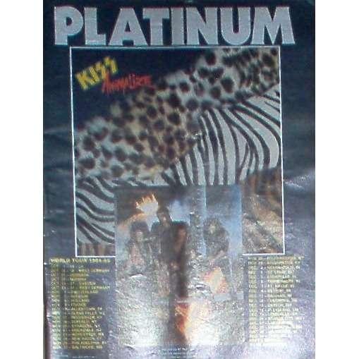 KISS Animalize World Tour 1984 (USA 1984 Polygram promo type advert 'Tour' Concerts' poster!!)