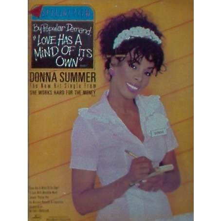 Donna Summer Love Has A Mind Of Its Own (USA 1984 Polygram promo type advert 'single release' poster!!)