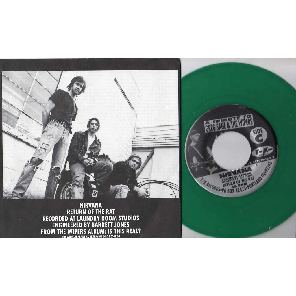 Nirvana Eight Songs for Greg Sage & the Wipers (Canada 1992 Ltd 8-trk V/A 4 x 7single GREEN Wax Box set)