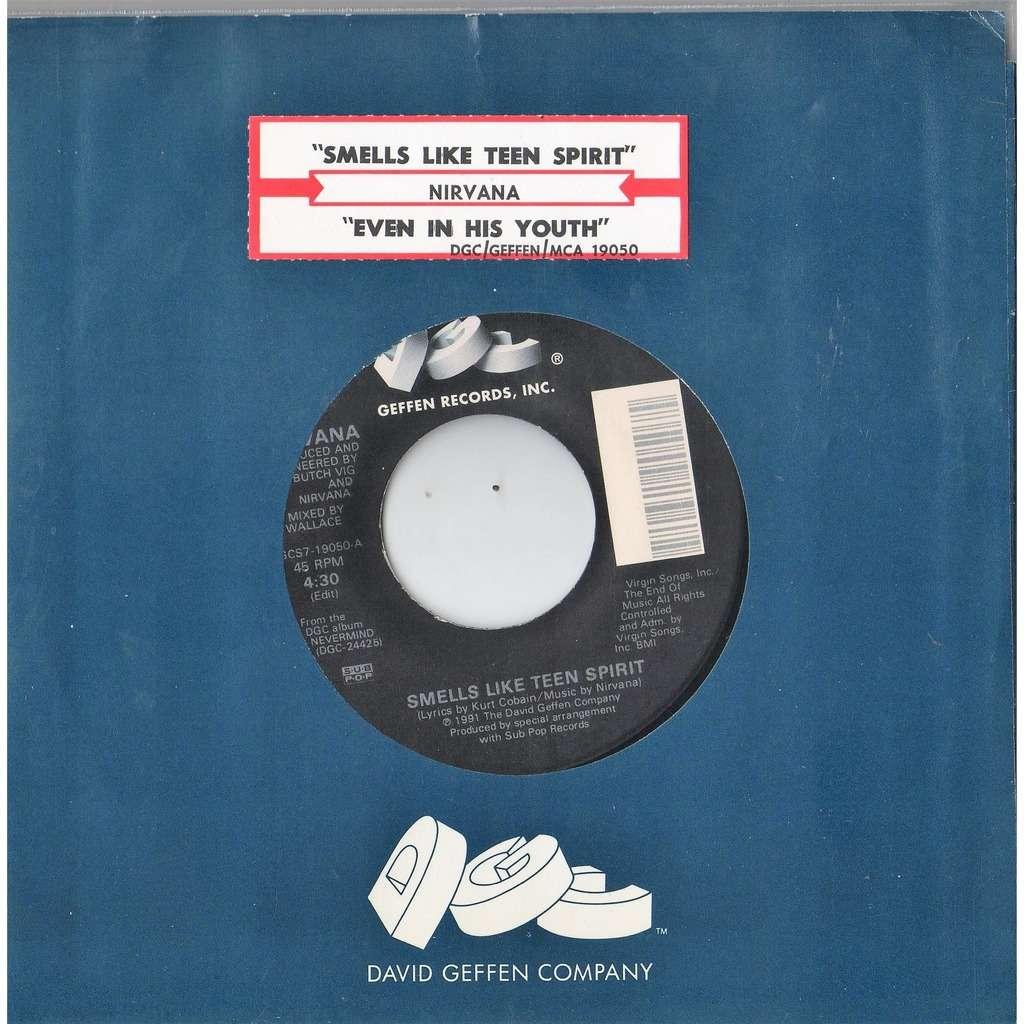 Nirvana Smells like teen spirit (USA 1991 original Ltd 2-trk 7single DGC  slv & jb title insert! !!)