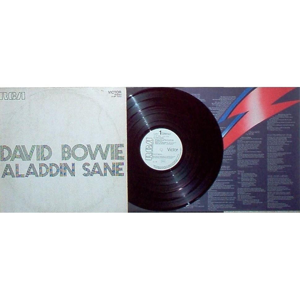 David Bowie Aladdin Sane (Italian 1973 10-trk w/l LP promo unique promo ps+promo book+promo poster+gf ps+insert)
