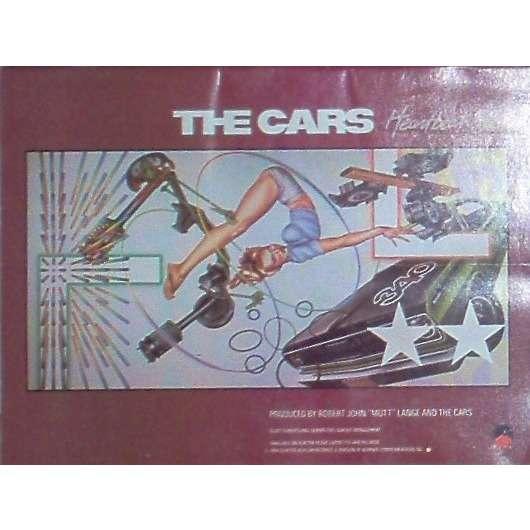 The cars Heartbeat City (USA 1984 'Elektra' promo type advert 'album release' poster!!)