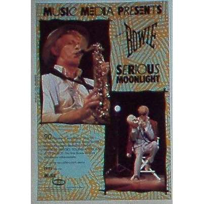 David Bowie Serious Moonlight (USA 1984 'Music Media' promo type advert 'Video release' poster!!)