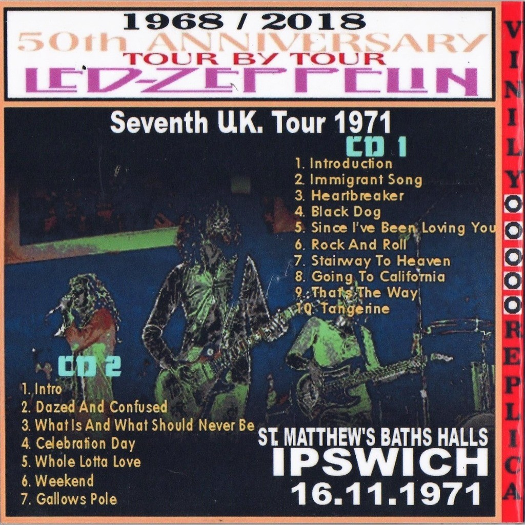 Led Zeppelin Live at 'St. Matthew's Baths halls' (Ipswich UK 16.11.1971)