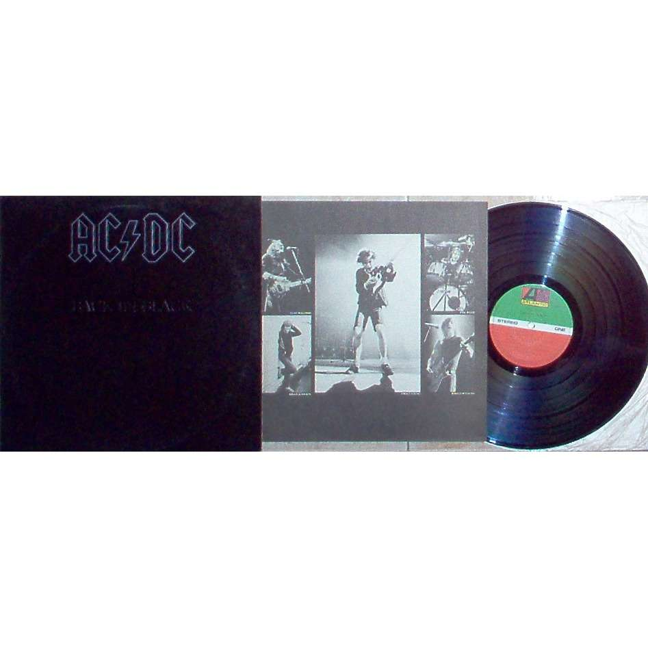 AC/DC Back In Black (Japan 1980 original 10-trk LP on Atlantic-Warner-Pioneer lbl etched ps + gf insert!!)