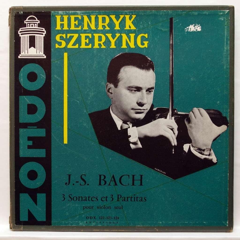 henryk szeryng JS Bach : 3 sonatas & 3 partitas for violin solo