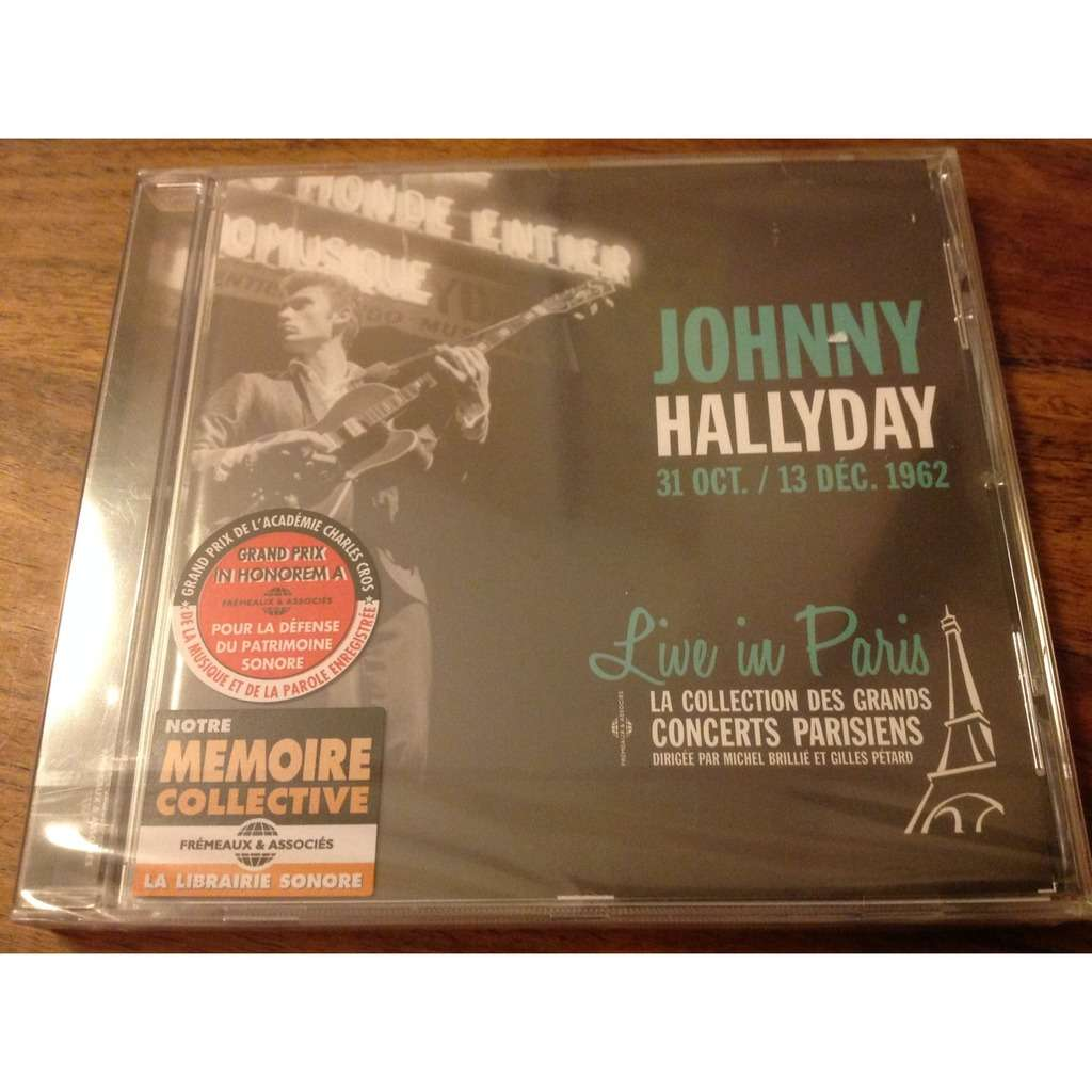 johnny hallyday 31 oct/ 13 dec 1962 Live in Paris la collection des grands concerts parisiens