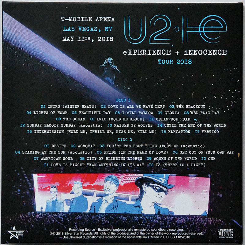 U2 experience + innocence tour 2018 live in usa soundboard 2cd set in  digisleeve by U2, CD x 2 with ultramusic